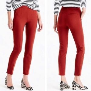 J. Crew | Martie Orange Cropped Slim Fit Pants 6